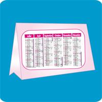 Impression offset calendrier de bureau imprimerie impression casablanca maroc - Calendrier de bureau personnalise ...